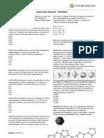 Geometria Espacial - Poliedros - Exercicios