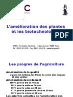 L'Amelioration Des Plantes Stage Court