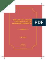 Filosofia Ideia de Uma Historia Universal Com Um Proposito Cosmopolita Immanuel Kant