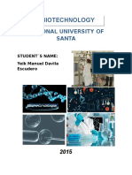 Monograph About Biotechnology