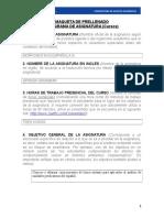 Programa Morfosintaxis española III