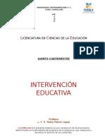 Intervensión Educativa Antología