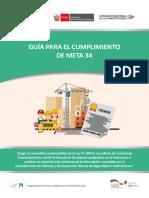 GUÍA PARA EL CUMPLIMIENTO DE META 34