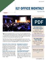 Family Office Monthly September 2016
