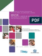 Global Economic Crisis Impact on Women Labour Migration in Bangladesh