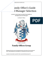 Family Office Guide Fund Manager Selection