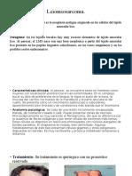 Diapositivas Punto 3.3 y 3.4 Neoplasias Malignas de Los Tejidos Blandos