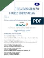 UNINCOR Betim - Seminário Administração - Folder