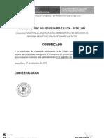 Lima CAS 045 Comunicado