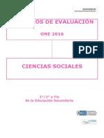 Criterios de Evaluación ONE 2016 Ciencias Sociales Educación Secundaria