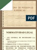 Nuevo Reglamento de Inscripciones Del Registro de Personas Juridicas