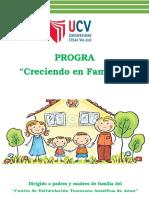 Programa Creciendo en Familia