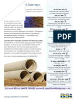 BSI Wastewater and Drainage Standards List