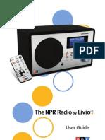 The NPR Radio by Livio user guide