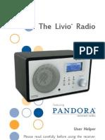 The Livio Radio Featuring Pandora user guide