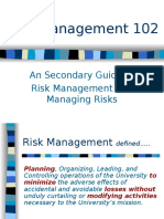 Risk Management 102