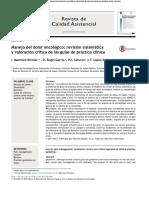 Manejo Del Dolor Oncologico Revisión Sistematica y Valoración Crítica de Las Guías de Practica Clínica