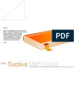Surplus Math Books