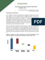 Resultados Encuesta 2013