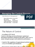 Managing the Control Process