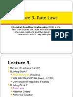 CRE3 Fogler 3 Rate Laws 1