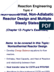 CRE10 Non Isothermal NonAdiabatic Reactors