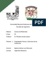 Práctica 1 Laboratorio de Ciencia de Materiales UNAM Fac de Ingeniería