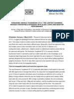 Comunicat lansare Panasonic CF-C1