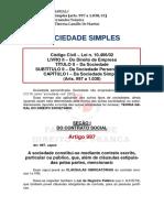 MÓDULO 08 - Sociedade Simples (Arts. 997 a 1038)