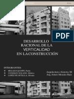 Desarrollo de la verticalidad en la vivienda