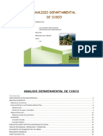Analisis Departamental Cusco