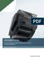 Siemens Sinamics V20 Brochure