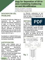 TECNOLOGÍA HIBRIDA PARA LA SEPARACIÓN DE EMULSIÓN DE ACEITE EN AGUA. MEDIANTE FILTRACIÓN POR COALESCENCIA Y MICRO-FILTRACIÓN.