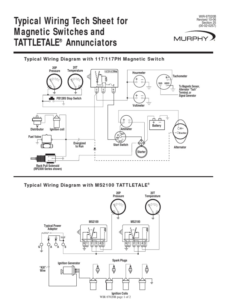 Murphy Switch Wiring Diagram Ignition System Distributor