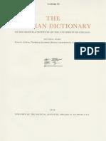 Dicionário Assírio D