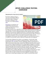 Preservative Challenge Testing Overview