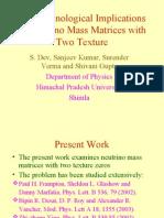 Phenomenological Implications of Neutrino Mass Matrices with texture zeros