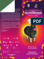 Programa Feria Alfeñique 2016 Toluca