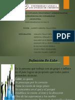 Diapositiva de Charla Liderazgo con inclusión Responsabilidad Social VI 2016 Uladech
