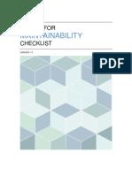 Design for Maintainability Checklist
