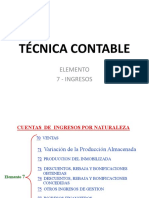 Técnica Contable - Elemento 7