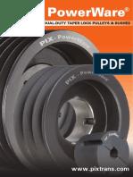PIX-PowerWare Pulleys Catalogue (With Narrow Profile)