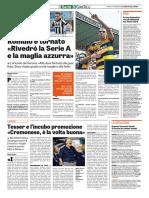 La Gazzetta dello Sport 07-10-2016 - Intervista a Tesser