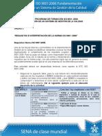 Actividad de Aprendizaje Unidad 3 Requisitos e Interpretacion de La Norma ISO 9001 2008