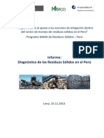 Diagnostico de Los Residuos Solidos en El Peru