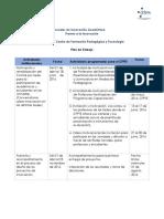 Plan de Trabajo Innovación CFPTE