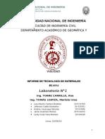 Informe de Tecnologia de Los Materiales