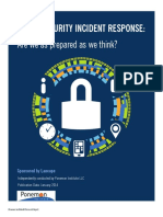 Lancope Ponemon Report Cyber Security Incident Response