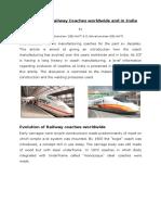 Aluminium Rail Coach