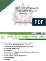 O Processo Eletrônico no Poder Judiciário de Santa Catarina